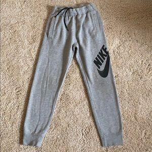 Boys grey Nike joggers